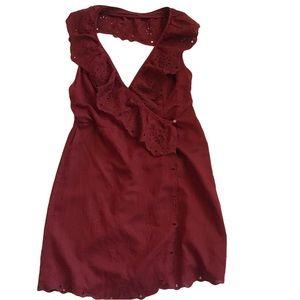 Free People Neha Halter Wrap Dress
